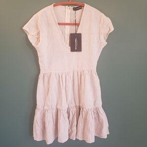 NWT Prettylittlething linen blend dress